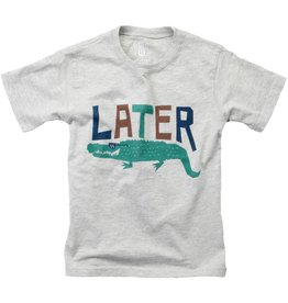 Wes And Willy Later Gator SS Tee Heather