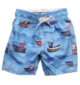 Wes And Willy Fishing Boats Trunk VU Blue