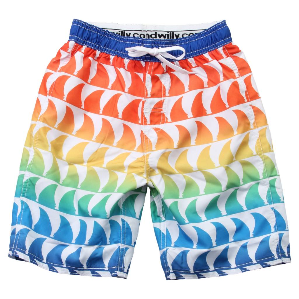 Wes And Willy Shark Fins Trunk White