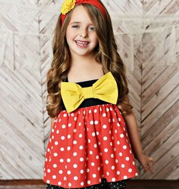 Serendipity Fairytale Red/Black Tunic & Shorts Set
