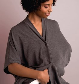 Itzy Ritzy Athleisure Nursing Wrap Heather Gray
