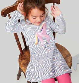 Joules Kaye Navy Stripe Unicorn Dress