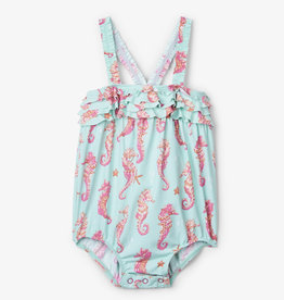 Hatley Fantastical Seahorses Baby Ruffle Swimsuit