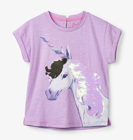 Hatley Flip Sequin Unicorn Graphic Tee