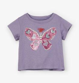 Hatley Glitzy Butterfly Baby Tee