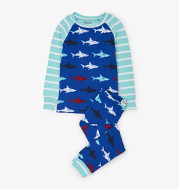 Hatley Shark Frenzy Organic Cotton Raglan PJ Set