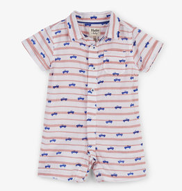 Hatley Tiny Pickup Trucks Baby Woven Romper