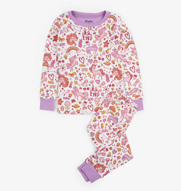 Hatley Unicorn Doodles Organic Cotton PJ Set