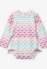 Hatley Watercolour Fishies Baby Rashguard Swimsuit
