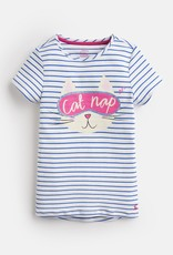 Joules Lark PJ Set Blue Cat Nap Stripe
