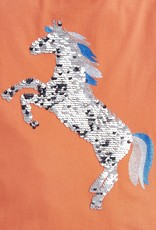 Joules Astra Unicorn Silver/Blue Reversible Sequin Tee