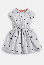 Joules Jude Dress Grey Marl Hearts