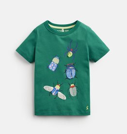 Joules Chomper Shirt Green Beetle