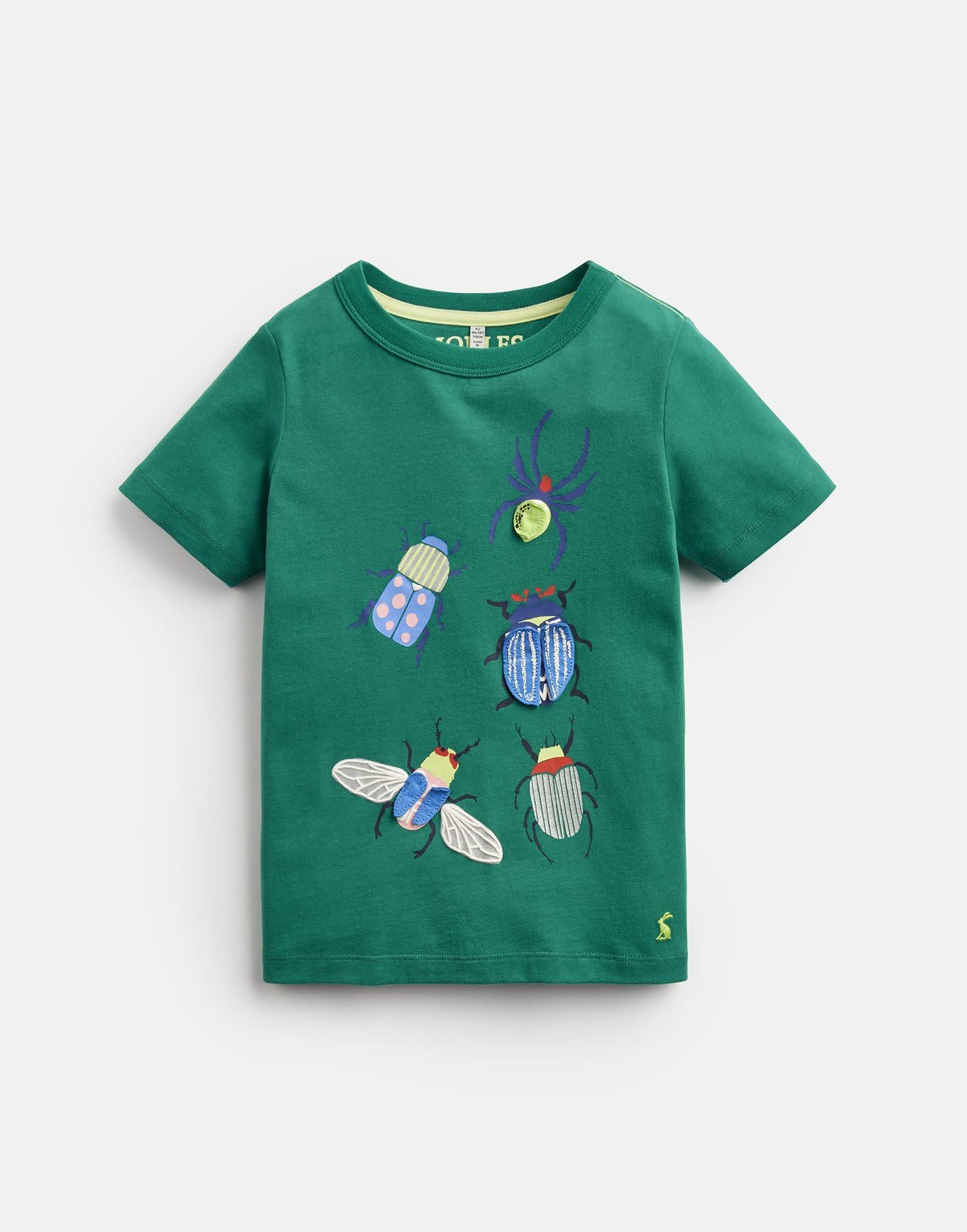 Joules Chomper Shirt Green Beetle