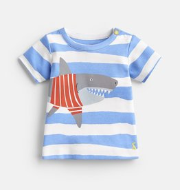 Joules Ben Shirt Blue Shark Stripe