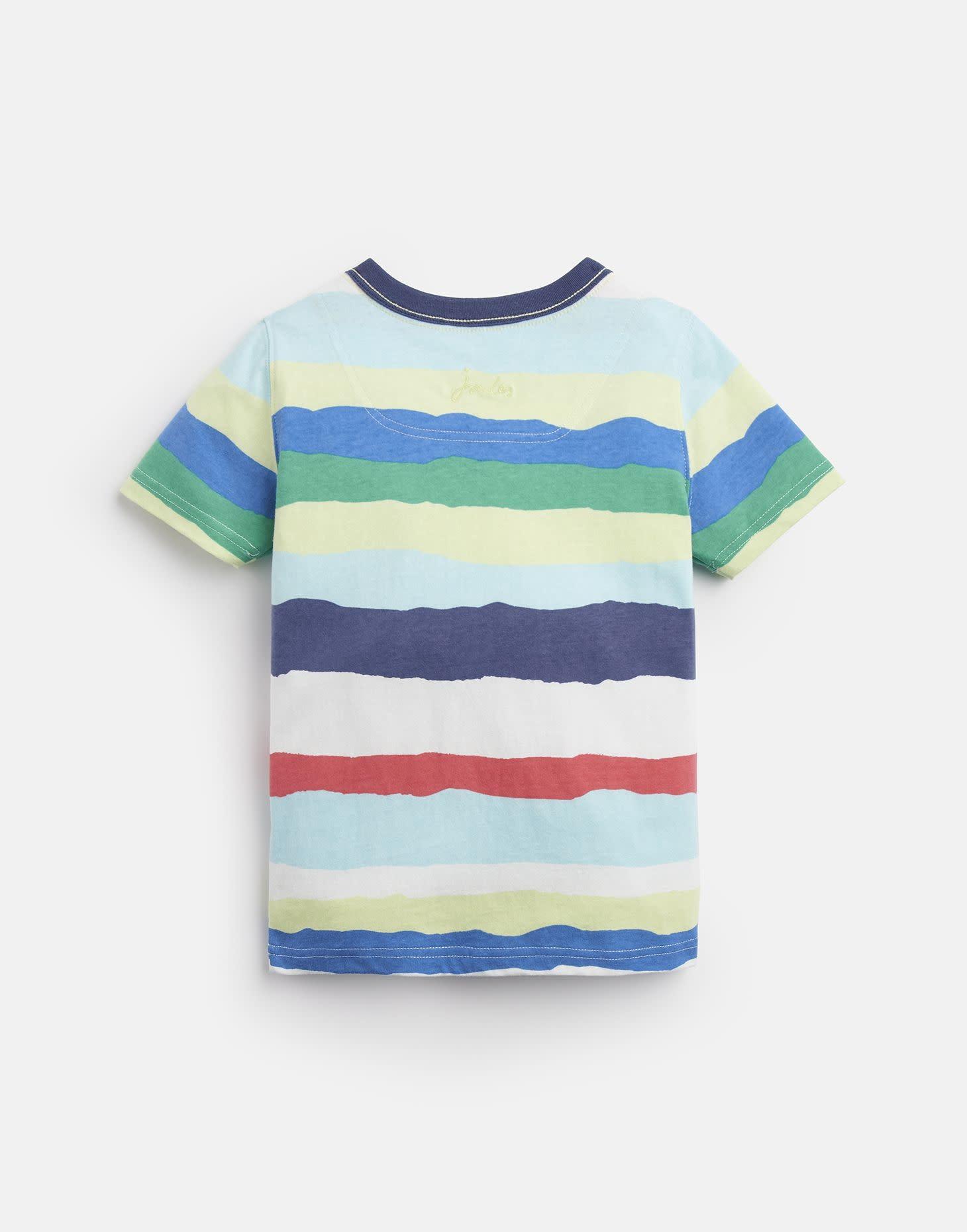 Joules Caspian Shirt Multi Color Paper Stripe