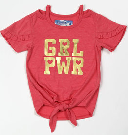 Kapital K GRL PWR Ruffled Tee Sunset