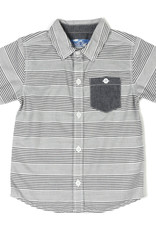 Kapital K B&W Stripe Button-Down Shirt