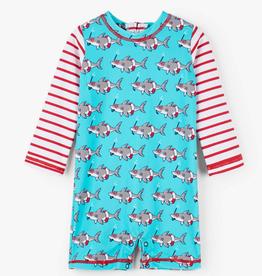 Hatley Snorkeling Sharks Baby Rashguard One-Piece