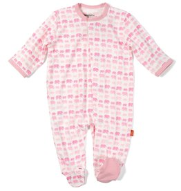 Magnificent Baby Pink Dancing Elephant Modal Footie