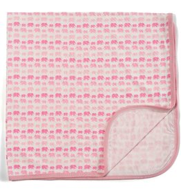 Magnificent Baby Pink Dancing Elephant Modal Swaddle