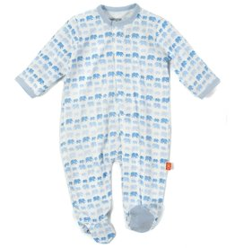 Magnificent Baby Blue Dancing Elephant Modal Footie