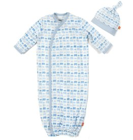 Magnificent Baby Blue Dancing Elephant Modal Gown Set