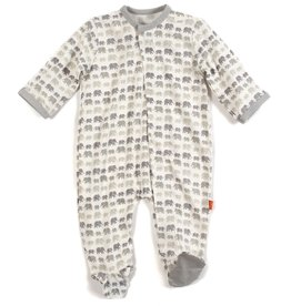 Magnificent Baby Grey Dancing Elephant Modal Footie