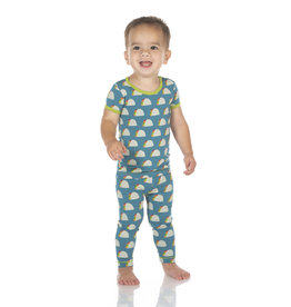 Kickee Pants Print SS Pajama Set Seagrass Tacos