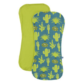 Kickee Pants Burp Cloth Set Seagrass Cactus and Meadow