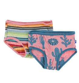 Kickee Pants Girl Underwear Set Strawberry Cactus/Cancun Stripe
