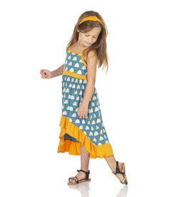 Kickee Pants Print Hi Lo Maxi Dress Seagrass Tacos