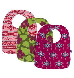 Kickee Pants Bib Set Hibiscus/Mayan Pattern/Piñata
