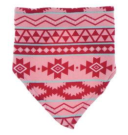 Kickee Pants Print Bandana Bib Strawberry Mayan Pattern