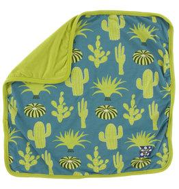 Kickee Pants Print Lovey Seagrass Cactus