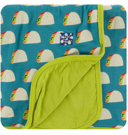 Kickee Pants Print Toddler Blanket Seagrass Tacos