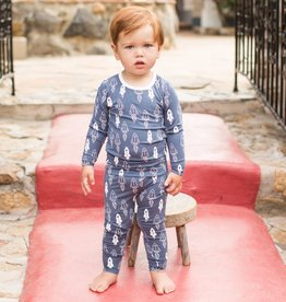 Bestaroo Pajama Set Navy Rockets