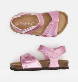 Joules Tippy Toes Metallic Pink Sandals