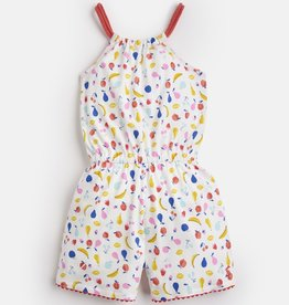 Joules Delphi Romper White Fruit Jumble