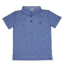 Fore!! Axel & Hudson SS Melange Loop Jersey Polo Blue