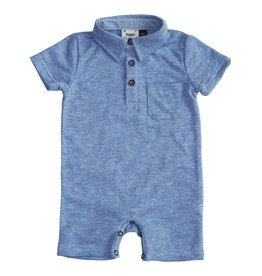 Fore!! Axel & Hudson SS Loop Jersey Polo Playsuit Blue
