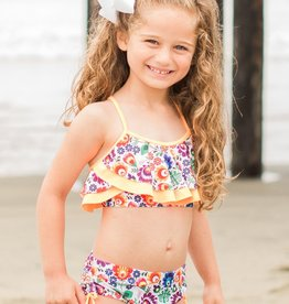 Isobella & Chloe Orange Riviera 2PC Swimsuit