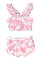 Isobella & Chloe Peach Whole Lotta Love 2PC Swimsuit