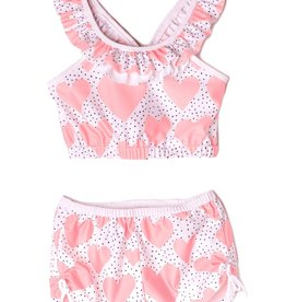 Isobella & Chloe Peach Whole Lotta Love 2PC Swimsuit