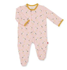 Magnificent Baby Pink Plovers Modal Footie