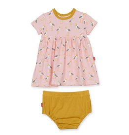 Magnificent Baby Pink Plovers Modal Dress/Diaper Cover