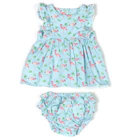 Kapital K Blue Flamingo 2PC Set Dress & Panty