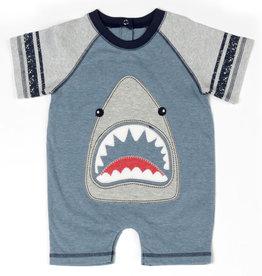 Kapital K Blue Storm Super Shark Applique Romper