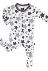 Kickee Pants Essentials Print Footie Feather/Rain Stars