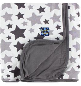 Kickee Pants Essentials Swaddling Blanket Feather/Rain Stars